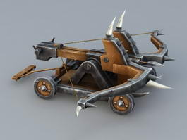 Roman Ballista Catapult 3d preview