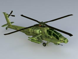 Apache Helicopter 3d model preview