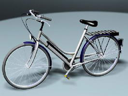 City bicycle 3d preview
