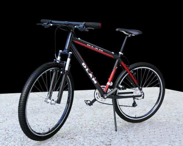 Black Mountain Bicycle 3d rendering