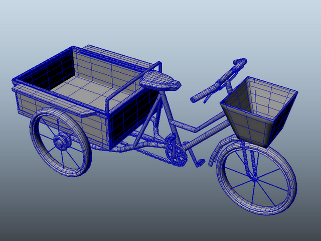 Adult Tricycle Cart 3d rendering