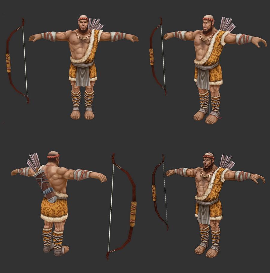 Ancient Hunter 3d rendering