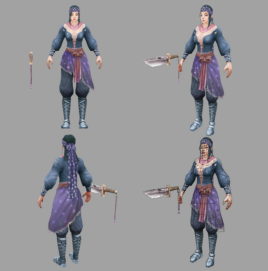 Female Rogue Thief 3d rendering