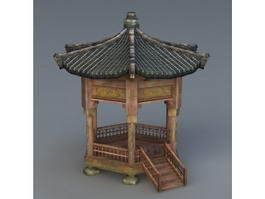 Vintage Chinese Pavilion 3d preview