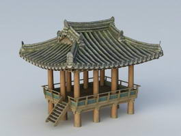 Asian Gazebo 3d preview