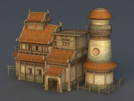 Medieval Tavern and Inn 3d model preview