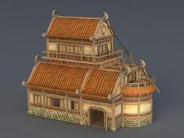 Medieval City Building 3d preview