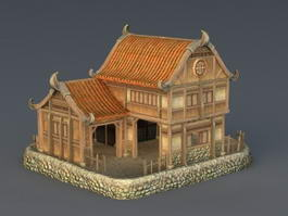 Rich Medieval House 3d model preview