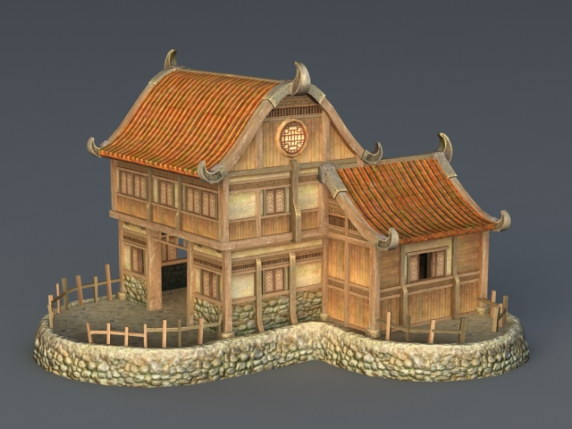 Rich Medieval House 3d rendering