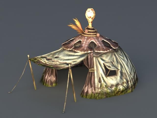 Medieval Tent 3d rendering