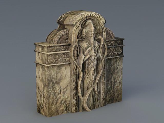 Ancient Relief Sculpture 3d rendering