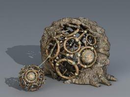 Ancient Prison Cage 3d model preview