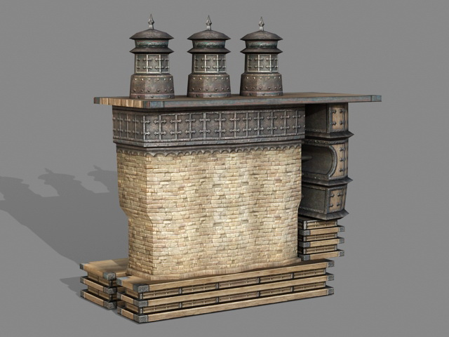 Vintage Incinerator 3d rendering