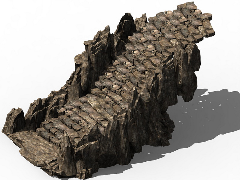 Stone Mountain Stair 3d model 3ds Max files free download ... on Granite Models  id=55525