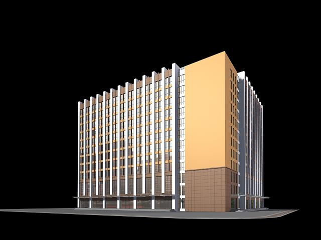 Modern Office Building Exterior 3d rendering
