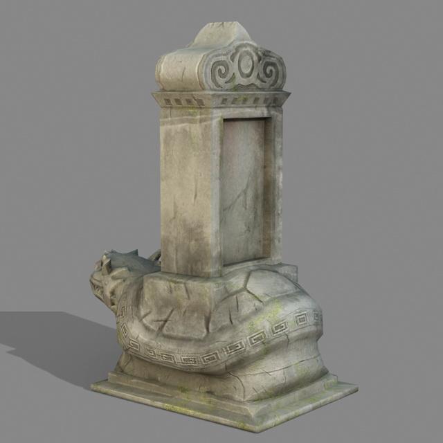 Turtle Monument 3d rendering