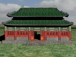 Chinese Temple Building 3d preview
