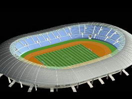 Olympic Stadium 3d model preview