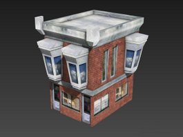 Low Poly House 3d preview