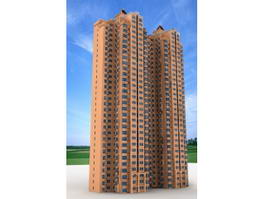 High-rise Residential Tower Architecture 3d preview