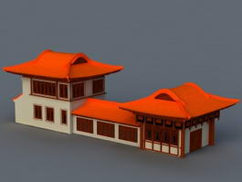 Ancient Chinese Houses 3d preview