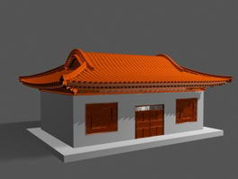 Traditional Chinese House 3d preview