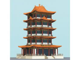 Pagoda Building 3d preview