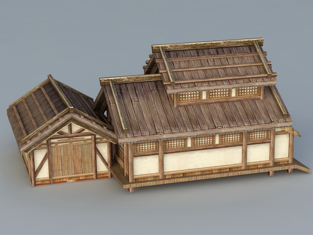 Old Japanese House 3d rendering