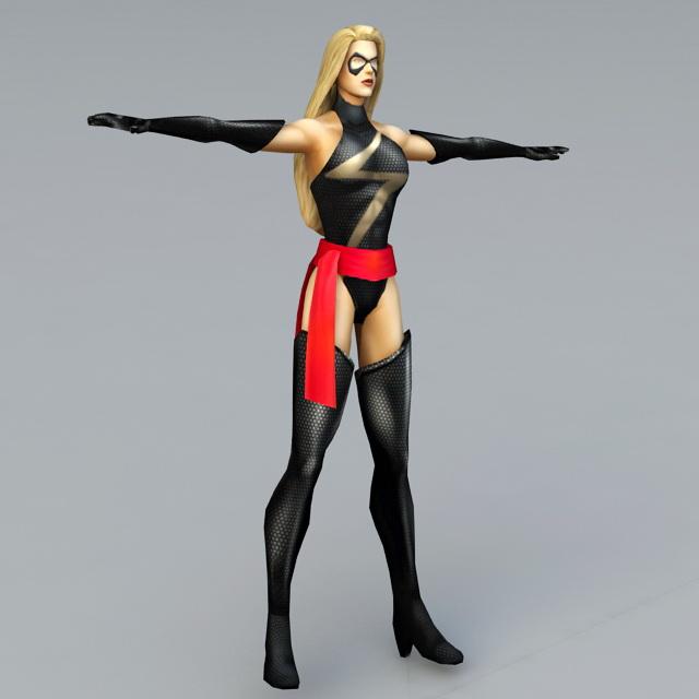 Supergirl 3d rendering