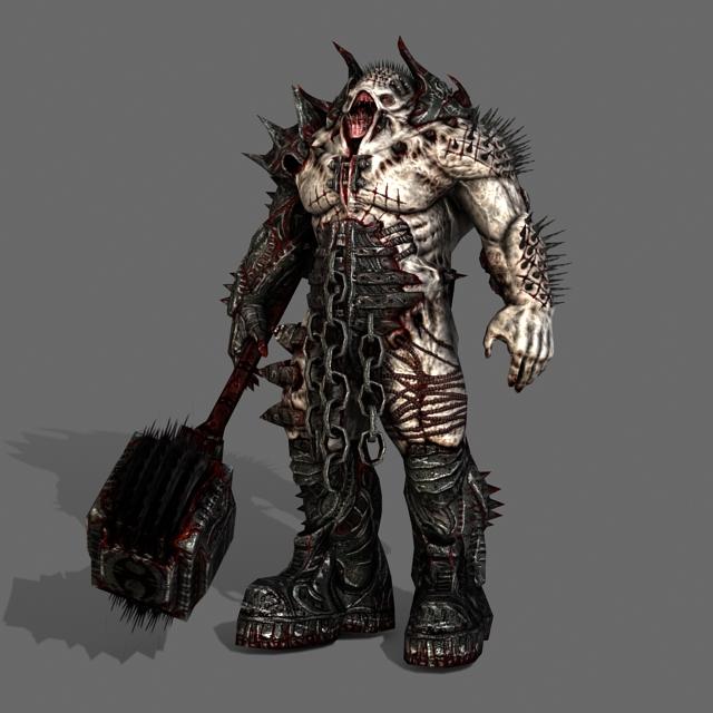 Scary Monster Demon 3d rendering