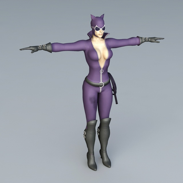 Catwoman 3d rendering