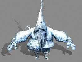 Ice Golem 3d preview
