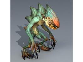 Green Troll Monster 3d preview