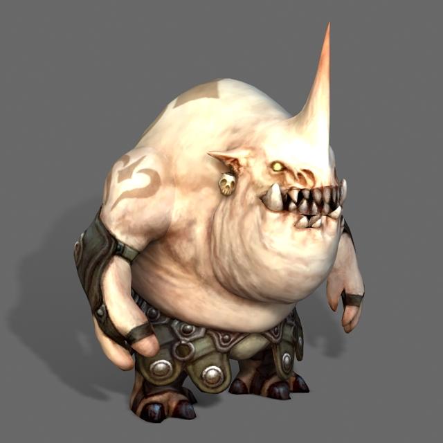 Ogre Monster 3d rendering