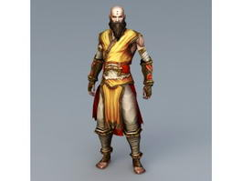 Shaolin Kung Fu Monk 3d preview