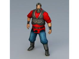 Medieval Russian Man 3d model preview