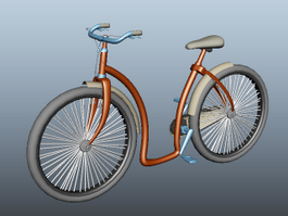Retro Bicycle 3d preview