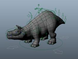 Bull Creature Rig 3d model preview