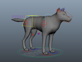 Dog Rig 3d preview
