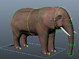 Elephant Rig 3d model preview