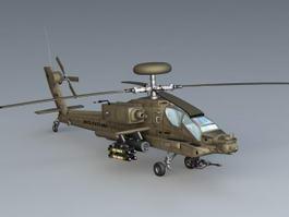 AH-64 Apache 3d model preview