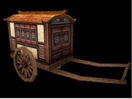Chinese Ancient Carriage 3d preview