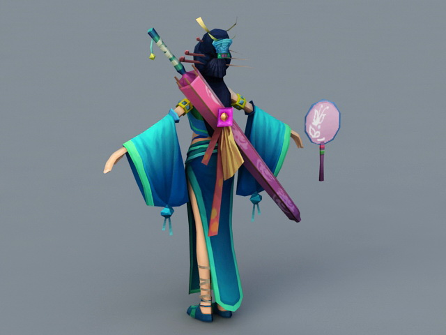 Traditional Chinese Woman 3d rendering