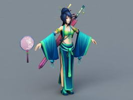 Traditional Chinese Woman 3d preview