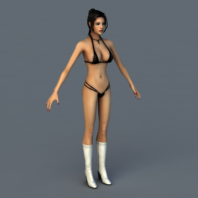 Elexis Sinclaire Bikini 3d rendering