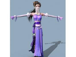 Medieval Princess with Veil 3d preview