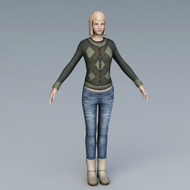 Citizen Girl 3d rendering