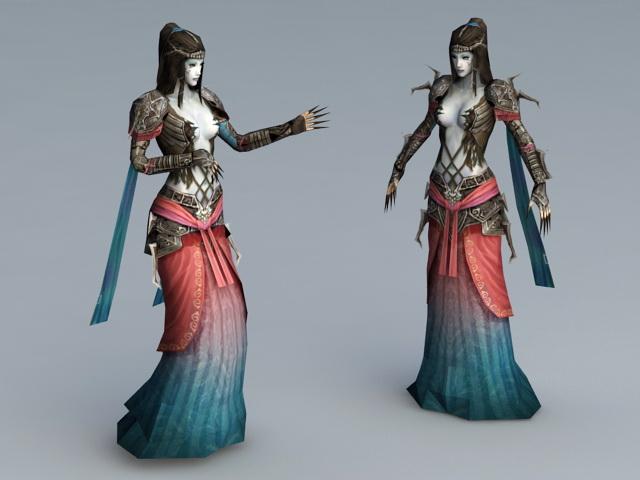 Evil Sorceress Rig 3d rendering
