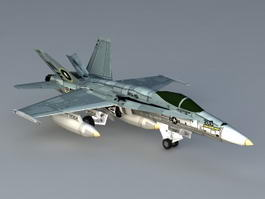 F 18 Hornet Aircraft 3d preview