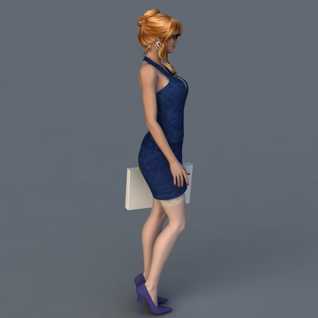 Office Bosses Lady 3d rendering